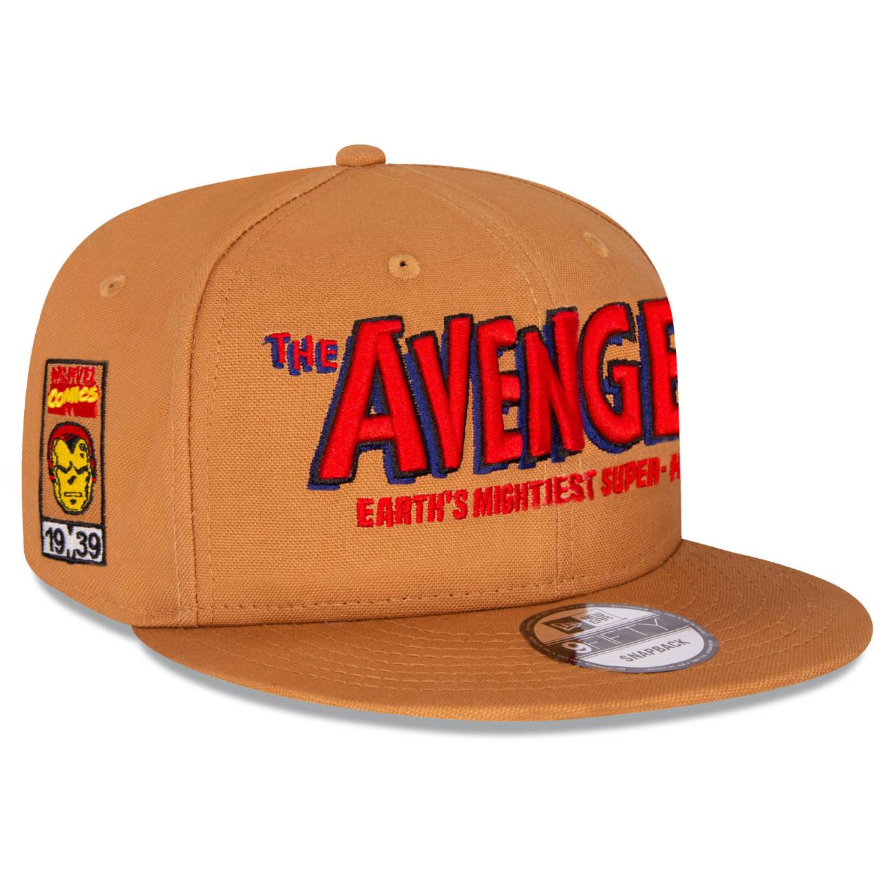 70535652 9FIFTY MARVEL THE 80TH AVENGERS CAMEL/RED SNAPBACK