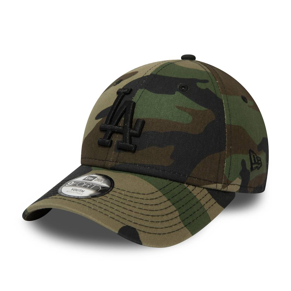 12061711 KIDS 9FORTY MLB LOS ANGELES DODGERS WOODLAND CAMO CAP