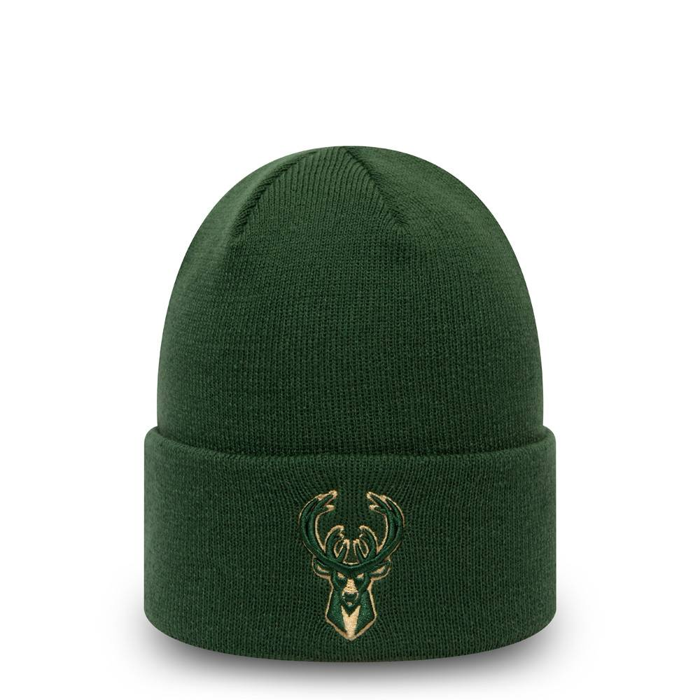 NEW ERA MILWAUKEE BUCKS TEAM COLOUR OUTLINE GREEN KNIT