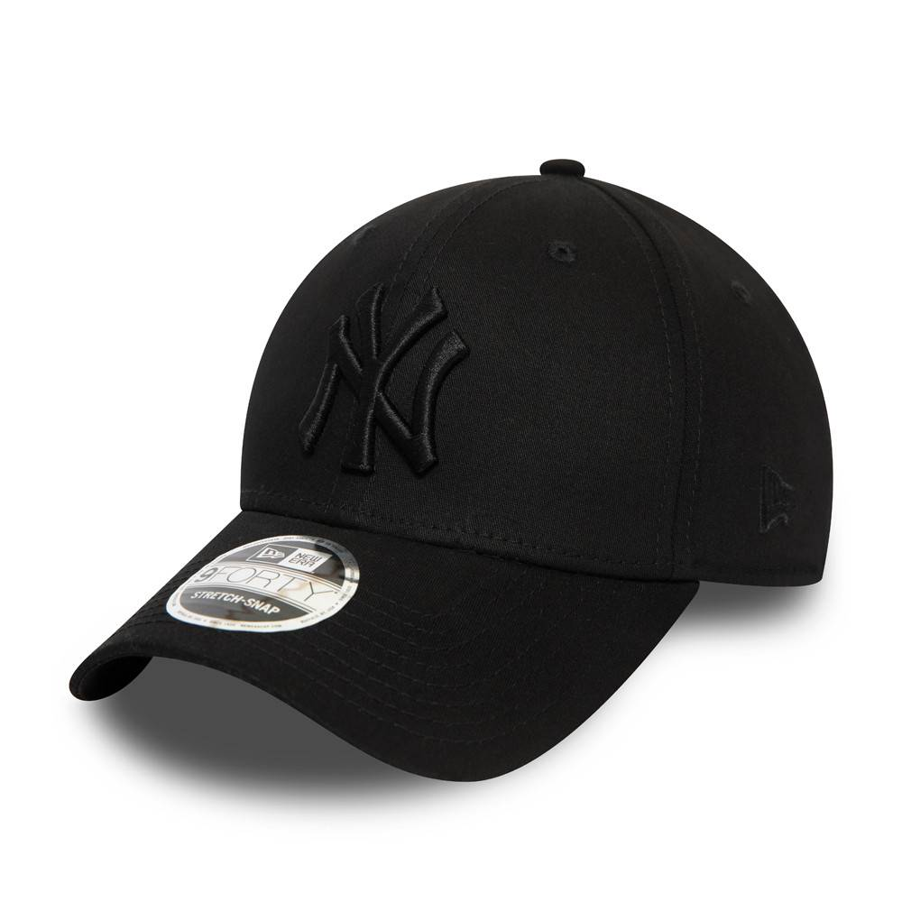 12381209 9FORTY STRETCH SNAP NEW YORK YANKEES BLACK/BLACK CAP