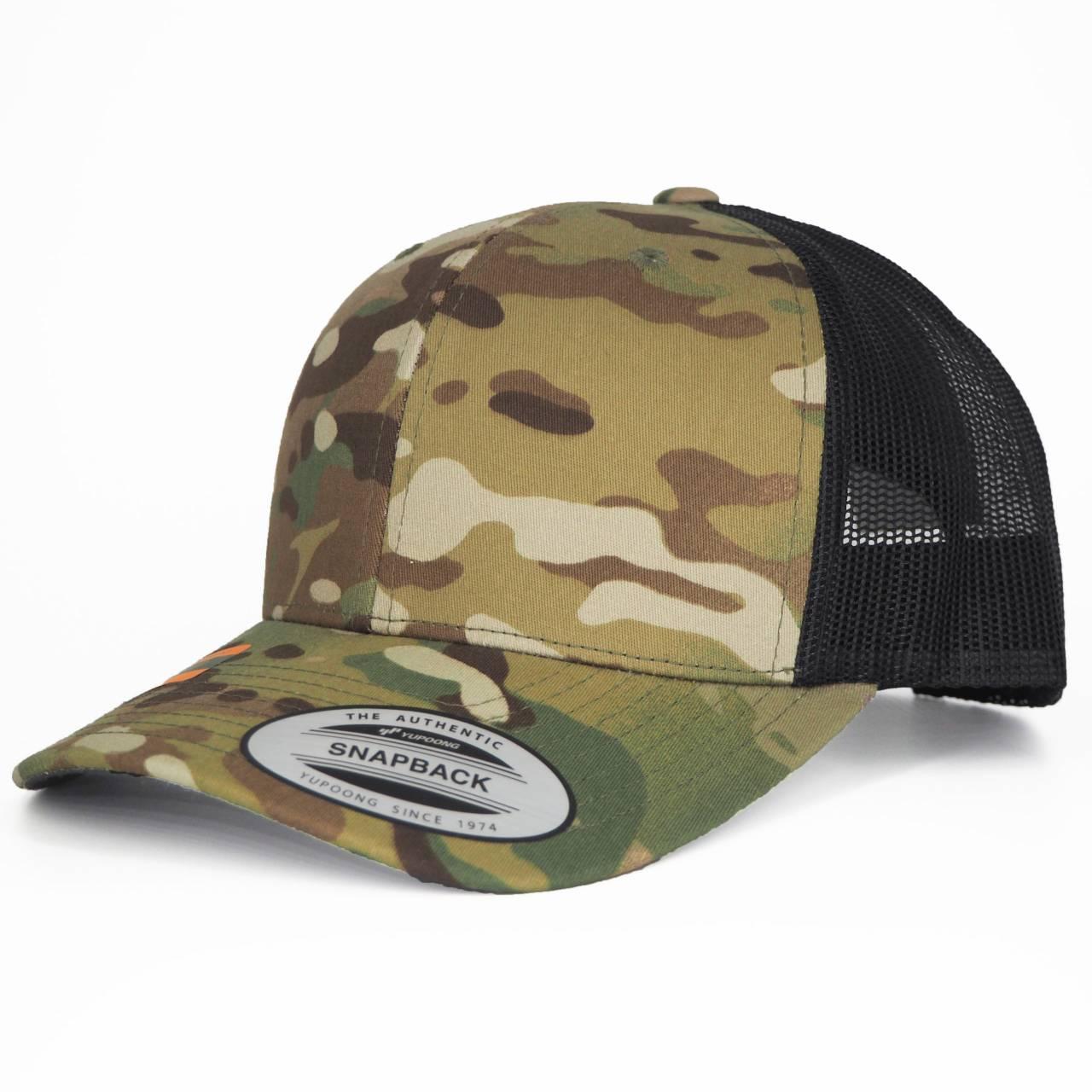6606MC-01394-0050 RETRO TRUCKER WOODLAND MULTICAMO CAP