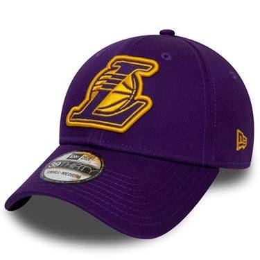 12040364 39THIRTY NBA LOS ANGELES LAKERS PURPLE STRETCH FITTED CAP