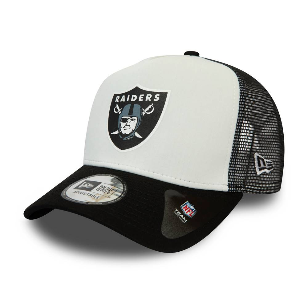 12380795 NFL TRUCKER LAS VEGAS RAIDERS WHITE/BLACK CAP