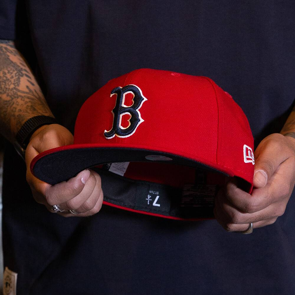 LIMITED 59FIFTY MLB BOSTON RED SOX SCARLET RED/NAVY UNDERBRIM