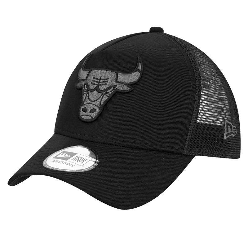 12523913 NBA TRUCKER CHICAGO BULLS DARK BLACK CAP