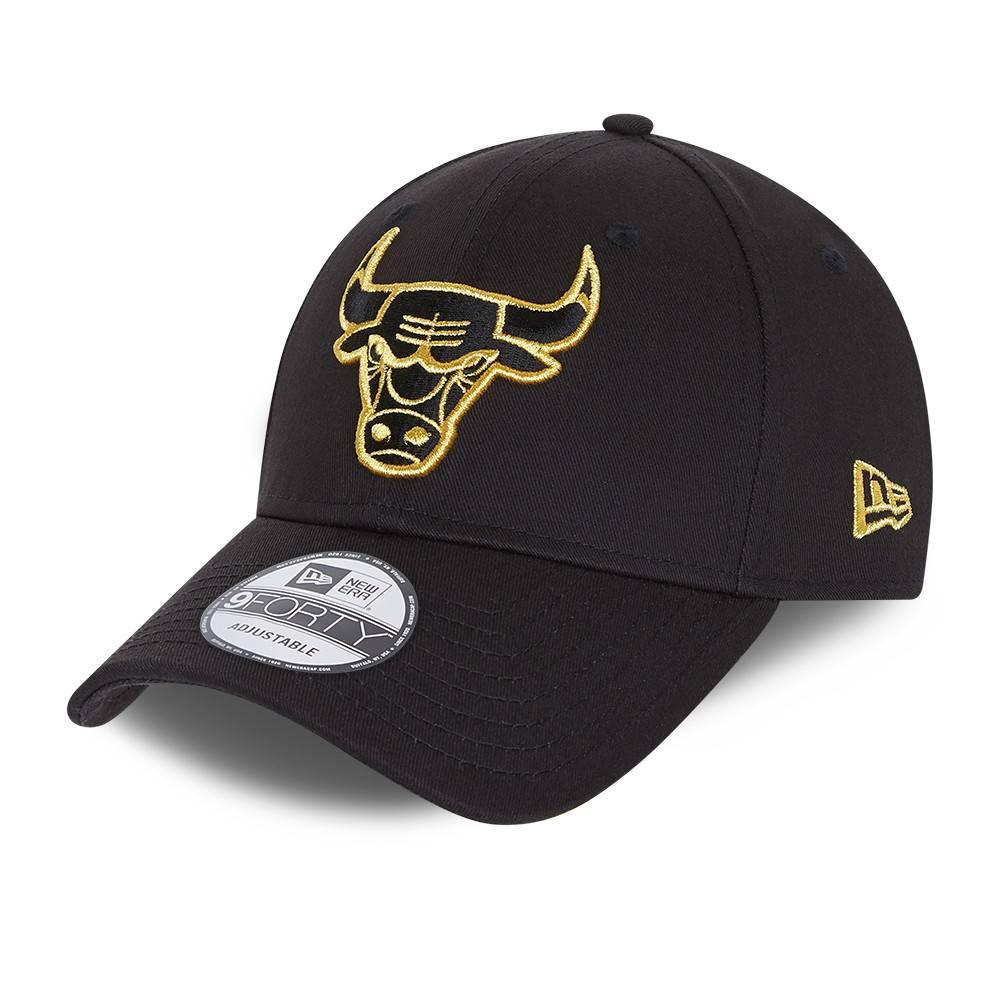 9FORTY NBA CHICAGO BULLS METALLIC LOGO BLACK CAP