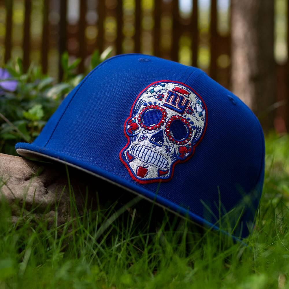 LIMITED 59FIFTY NFL NEW YORK GIANTS SUGAR SKULL CALMING BLUE/GRAU UNTERSCHIRM