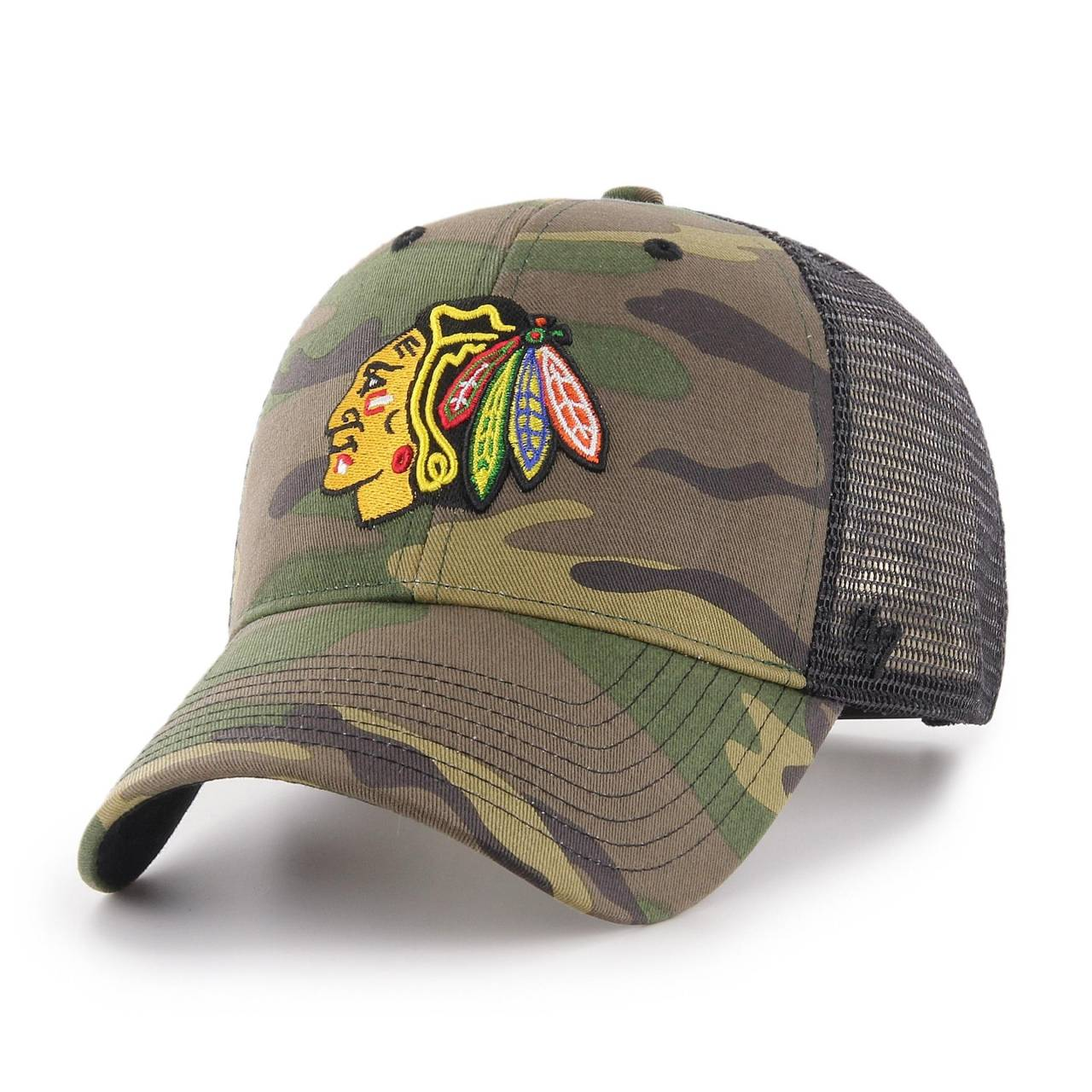 NHL CHICAGO BLACKHAWKS CAMO BRANSON '47 MVP CAP