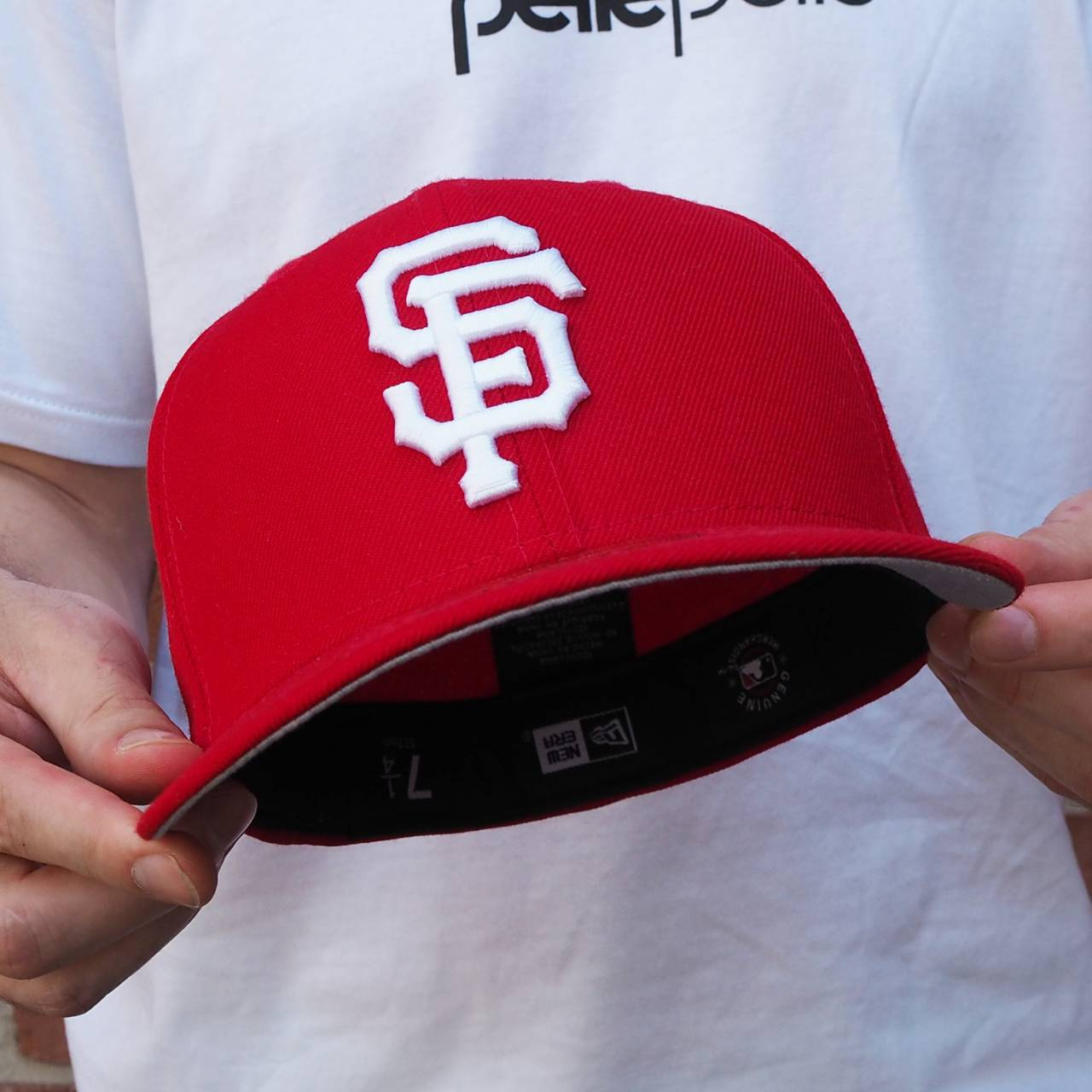 80373210 EXCLUSIVE 59FIFTY MLB SAN FRANCISCO GIANTS SCARLET/WHITE GREY UNDERBRIM