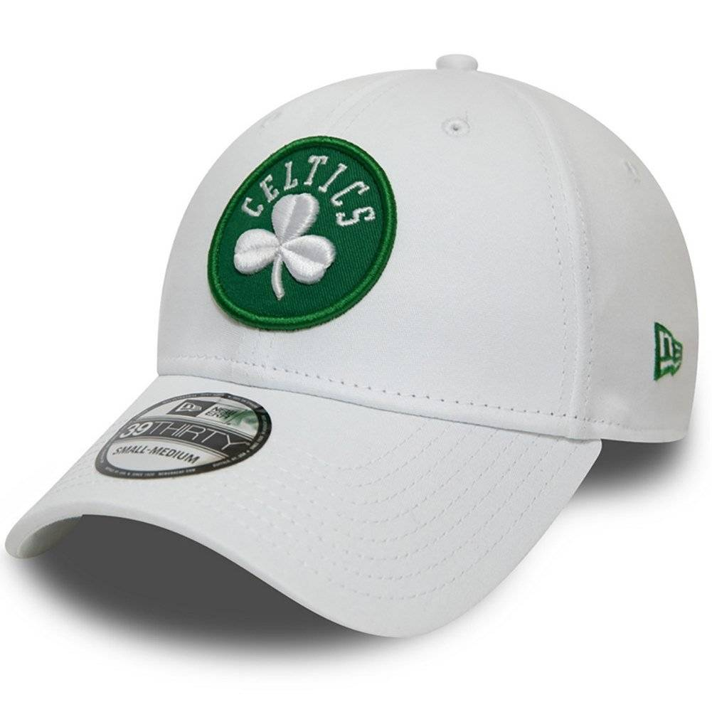 12040366 39THIRTY NBA BOSTON CELTICS WHITE STRETCH FITTED CAP