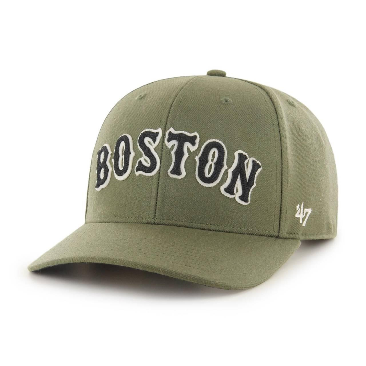 MLB BOSTON RED SOX CHAIN LINK '47 MVP DP OLIVE SNAPBACK