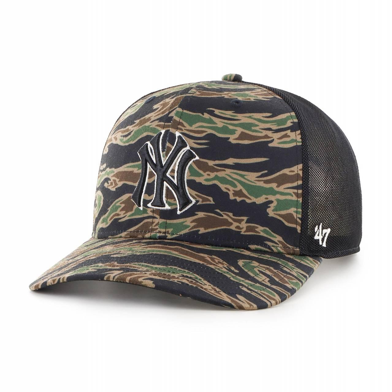 MLB NEW YORK YANKEES DROP ZONE MESH '47 MVP DP CAMO SNAPBACK