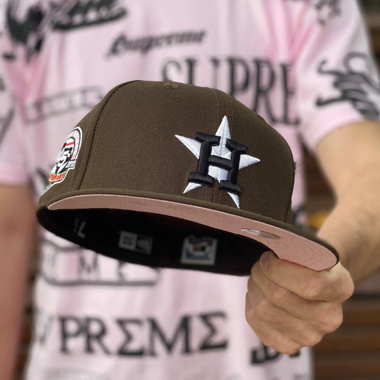 59FIFTY MLB HOUSTON ASTROS WALNUT/PINK UNDERBRIM