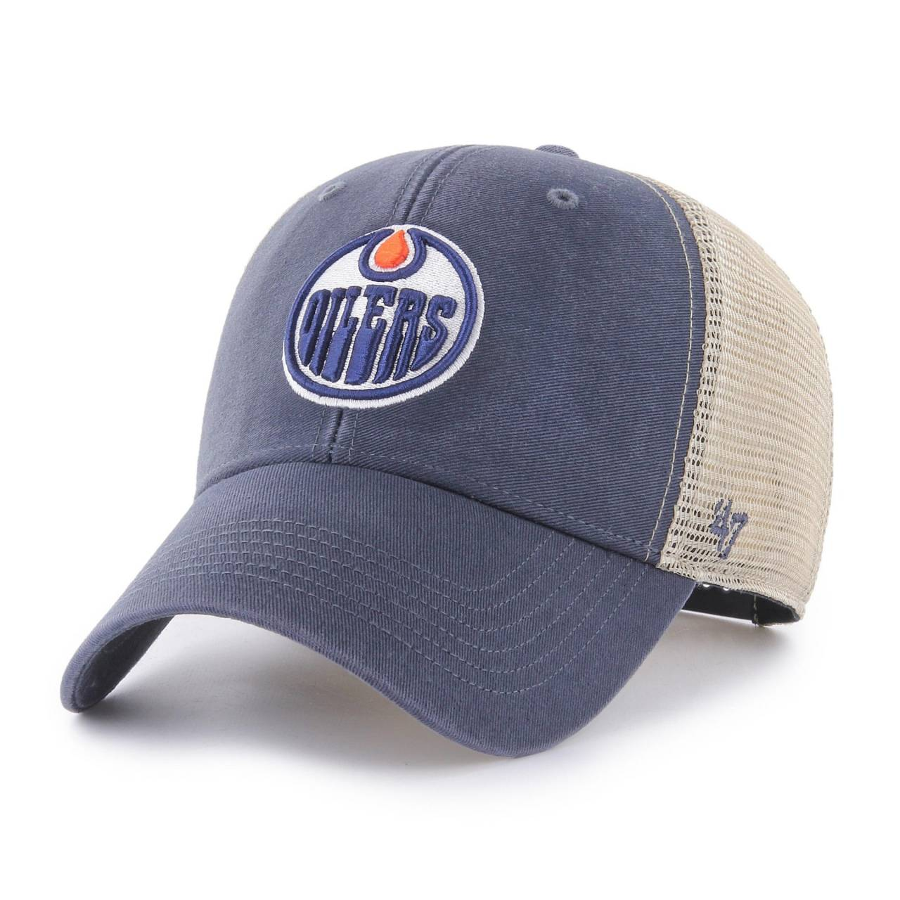 NHL EDMONTON OILERS FLAGSHIP WASH '47 MVP NAVY CAP