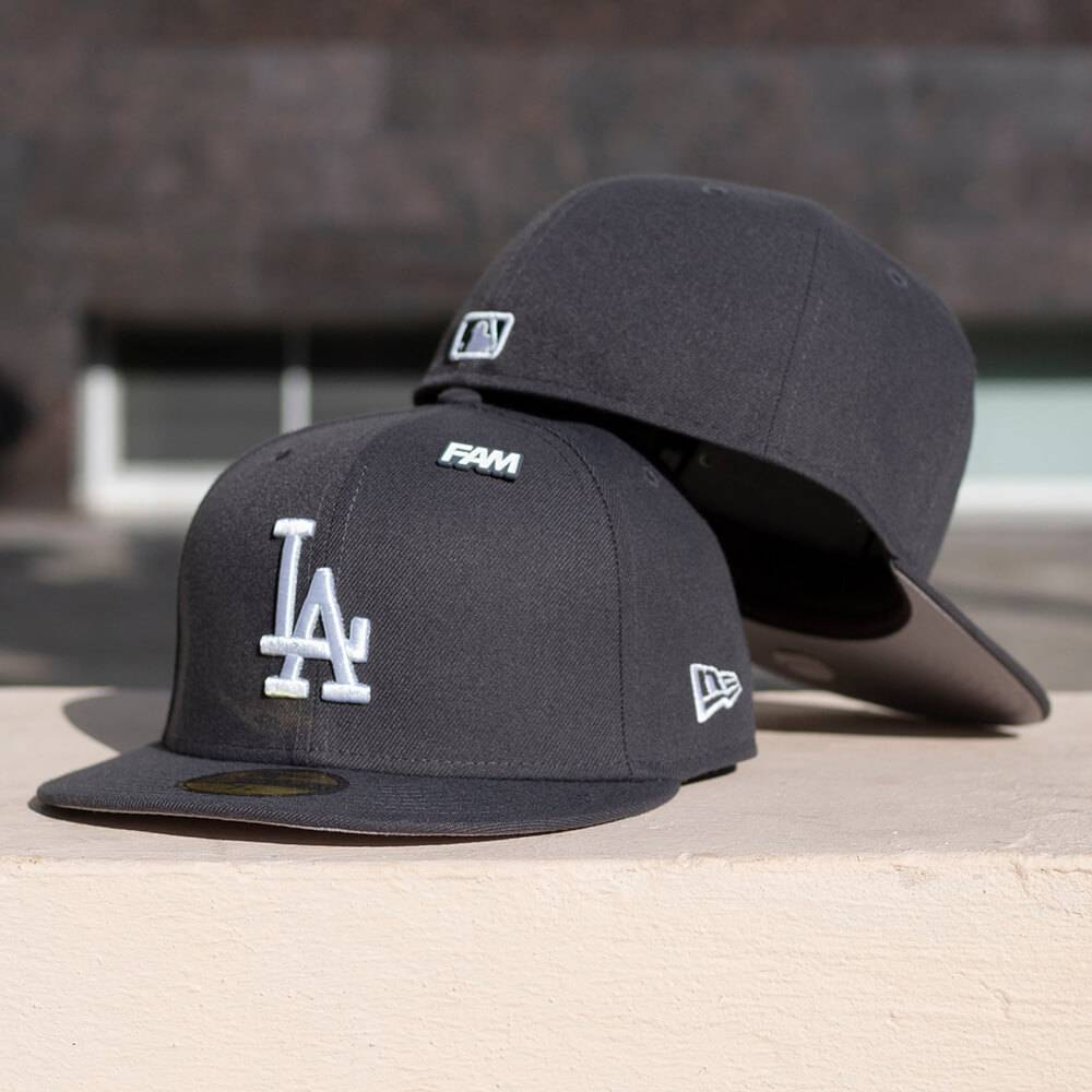 LIMITED 59FIFTY MLB ESSENTIAL LOS ANGELES DODGERS GRAPHITE / GREY UV
