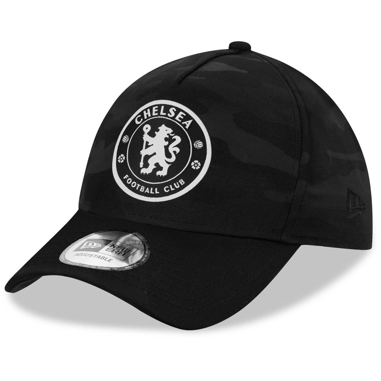 9FORTY A-FRAME CHELSEA FC LION CREST BLACK CAMO CAP