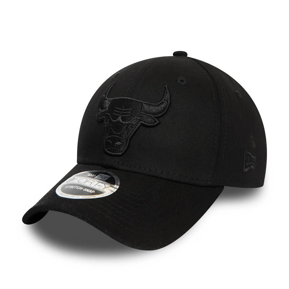 9FORTY STRETCH SNAP NBA CHICAGO BULLS  BLACK/BLACK CAP