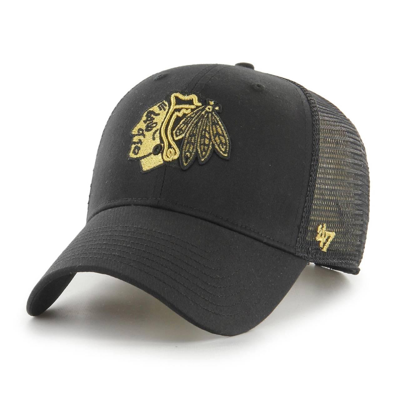 NHL CHICAGO BLACKHAWKS BRANSON METALLIC '47 MVP BLACK CAP
