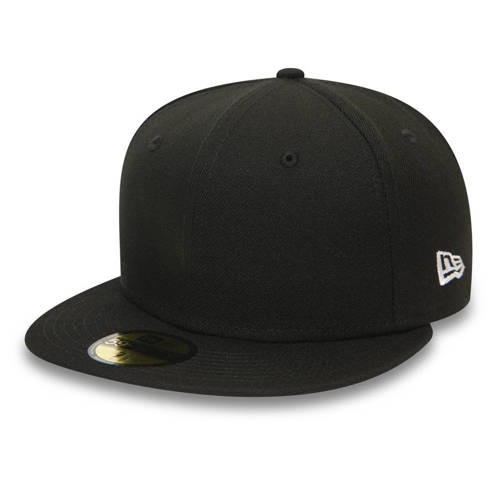 12380905 59FIFTY NEW ERA ESSENTIAL BLACK FITTED CAP