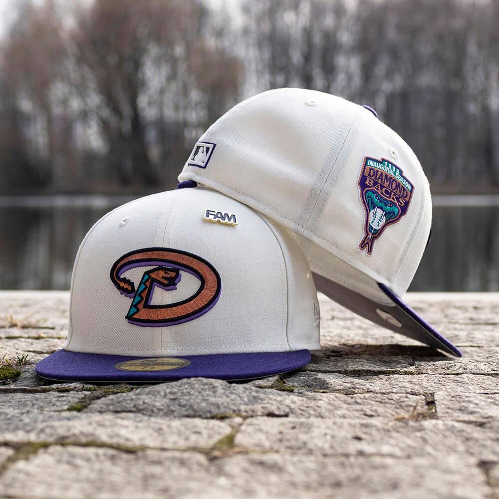 LIMITED 59FIFTY MLB ARIZONA DIAMONDBACKS INAUGURAL 1998 RETRO CREAM CROWN/GREY UNDERBRIM