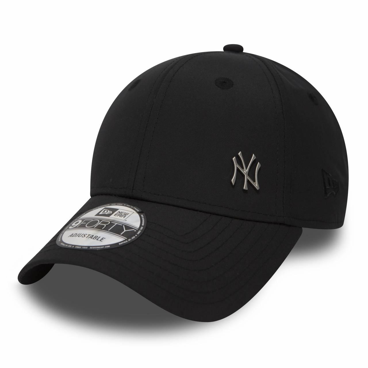 11198850 9FORTY NEW YORK YANKEES METAL LOGO BLACK CAP