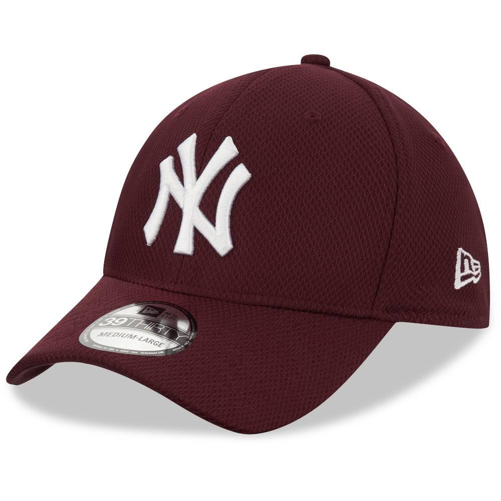 12523908 39THIRTY MLB NEW YORK YANKEES DIAMOND ERA STRETCH FIT MAROON CAP
