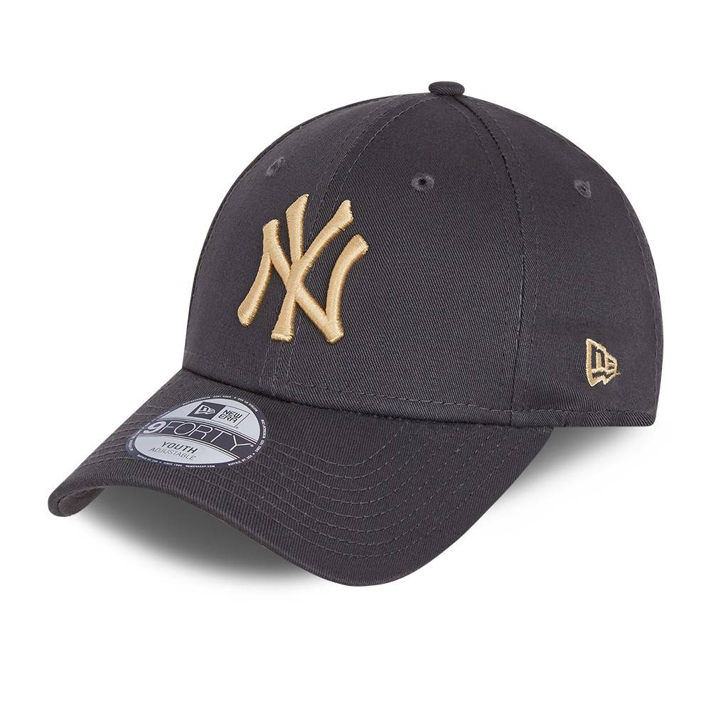 KIDS 9FORTY LEAGUE ESSENTIAL NEW YORK YANKEES GREY CAP