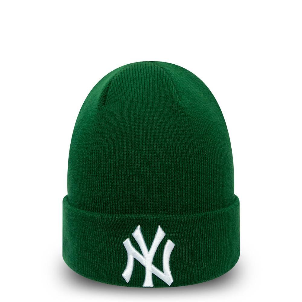 NEW ERA NEW YORK YANKEES ESSENTIAL GREEN CUFF KNIT