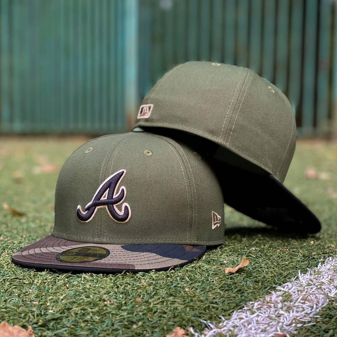 EXCLUSIVE 59FIFTY MLB ATLANTA BRAVES ARMY GREEN/CAMO VISOR