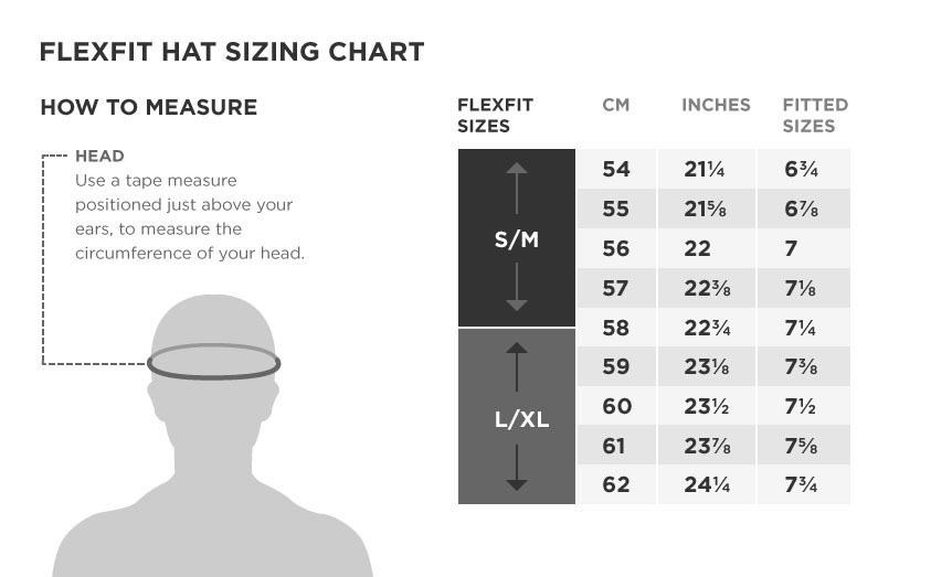 black-flex-fit-size-chart