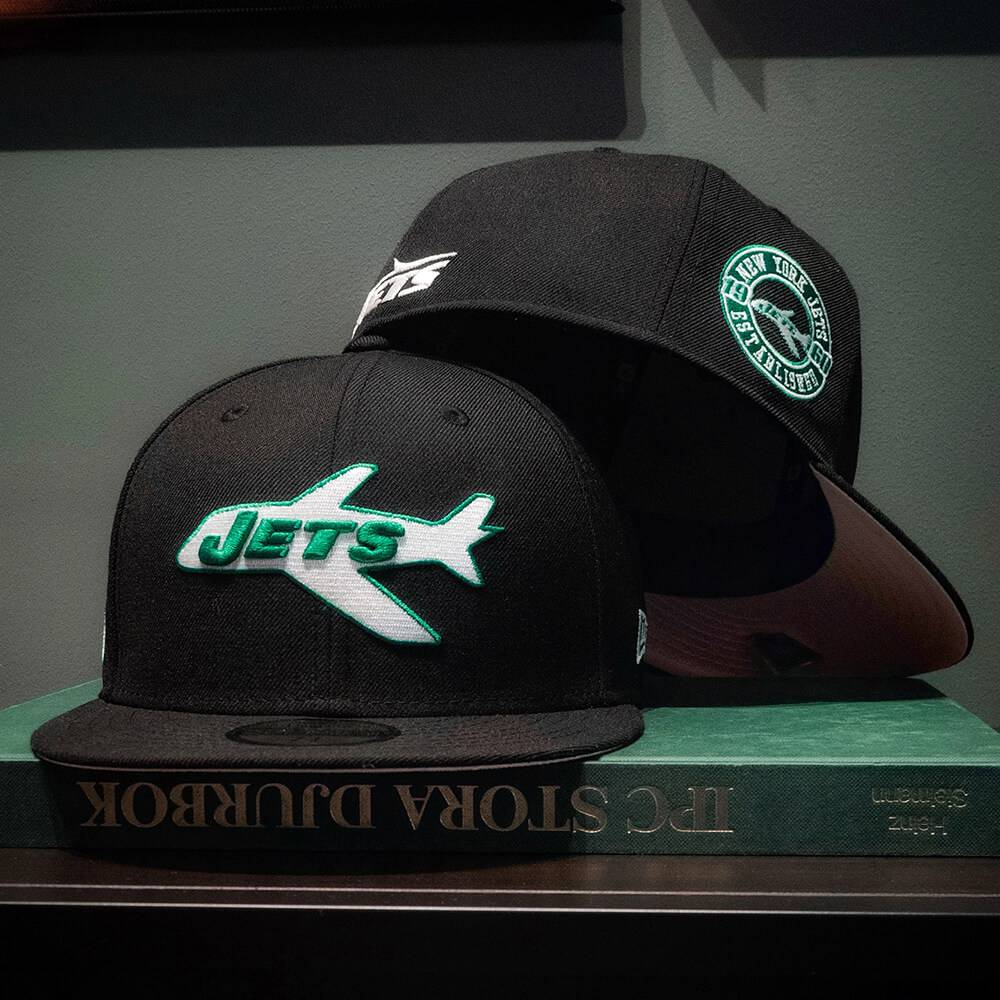 EXCLUSIVE 59FIFTY NFL NEW YORK JETS BLACK/PINK UNDERBRIM