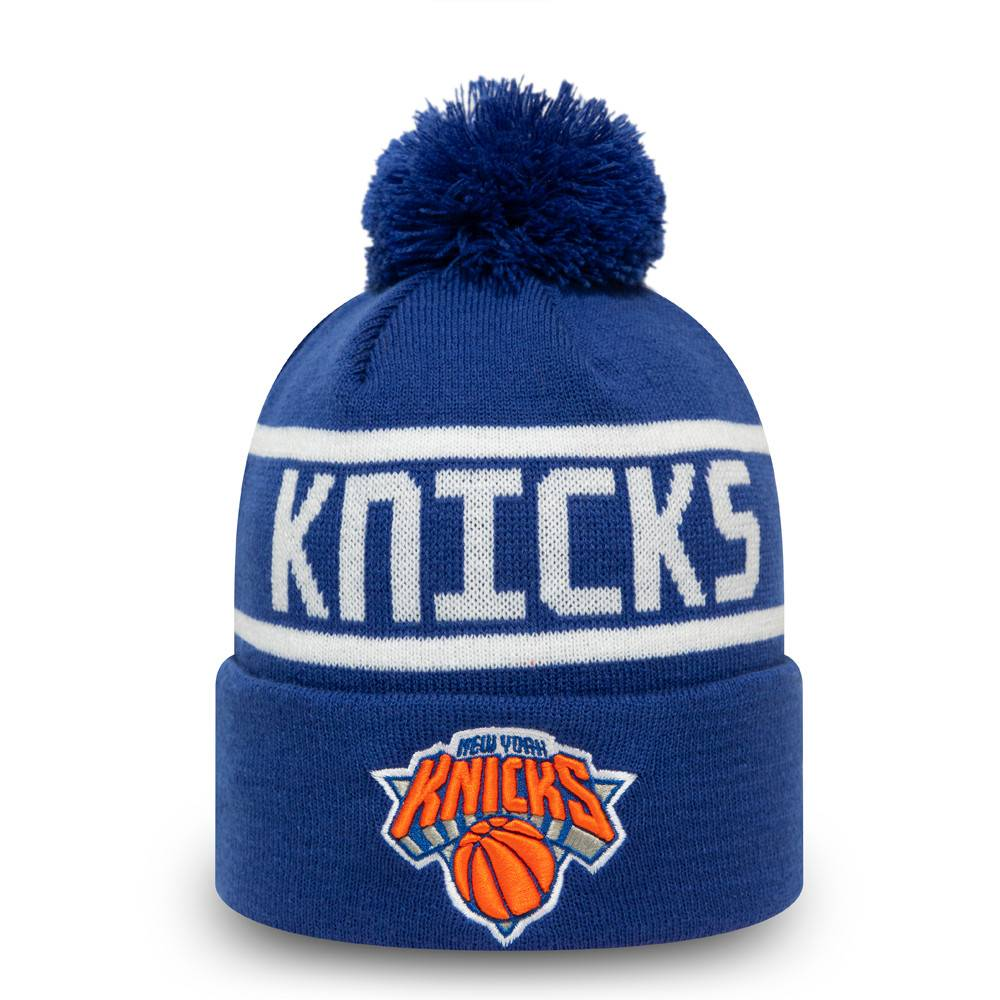 NEW ERA NEW YORK KNICKS TEAM JAKE BOBBLE CUFF KNIT BLUE