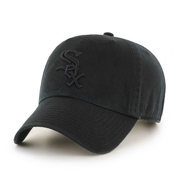 MLB CHICAGO WHITE SOX '47 CLEAN UP BLACK/BLACK CAP