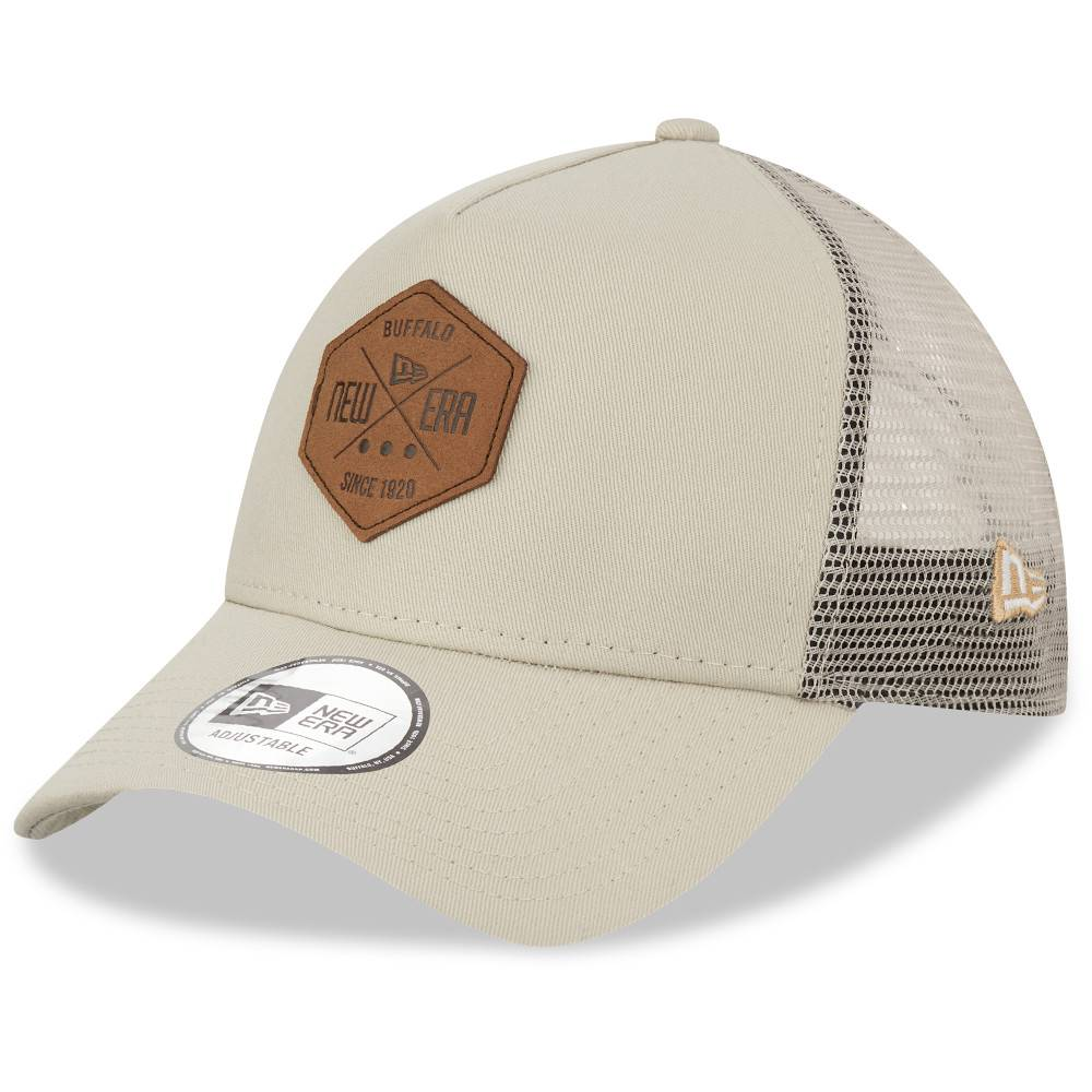 12523899 TRUCKER A-FRAME NEW ERA PATCH STONE CAP