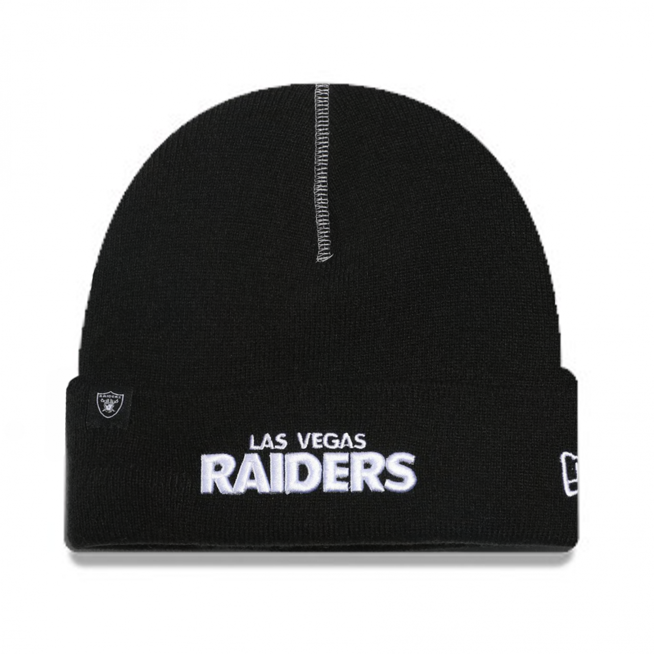60068521 NFL KNIT LAS VEGAS RAIDERS SCRIPT BLACK