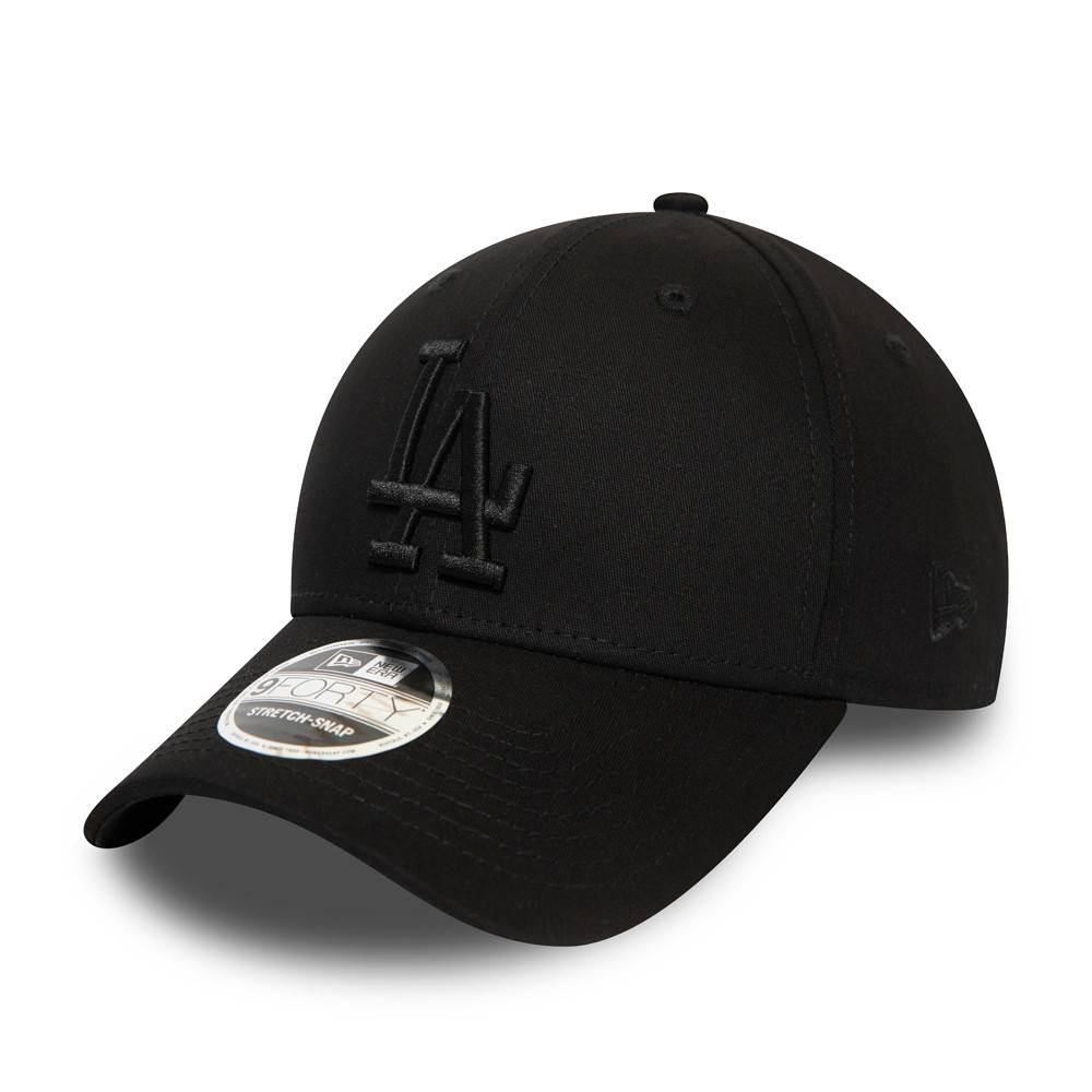 12381212 9FORTY STRETCH SNAP LOS ANGELES DODGERS BLACK/BLACK CAP