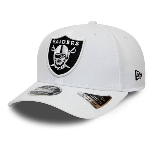 12040167 9FIFTY NFL OAKLAND RAIDERS WHITE STRETCH SNAPBACK