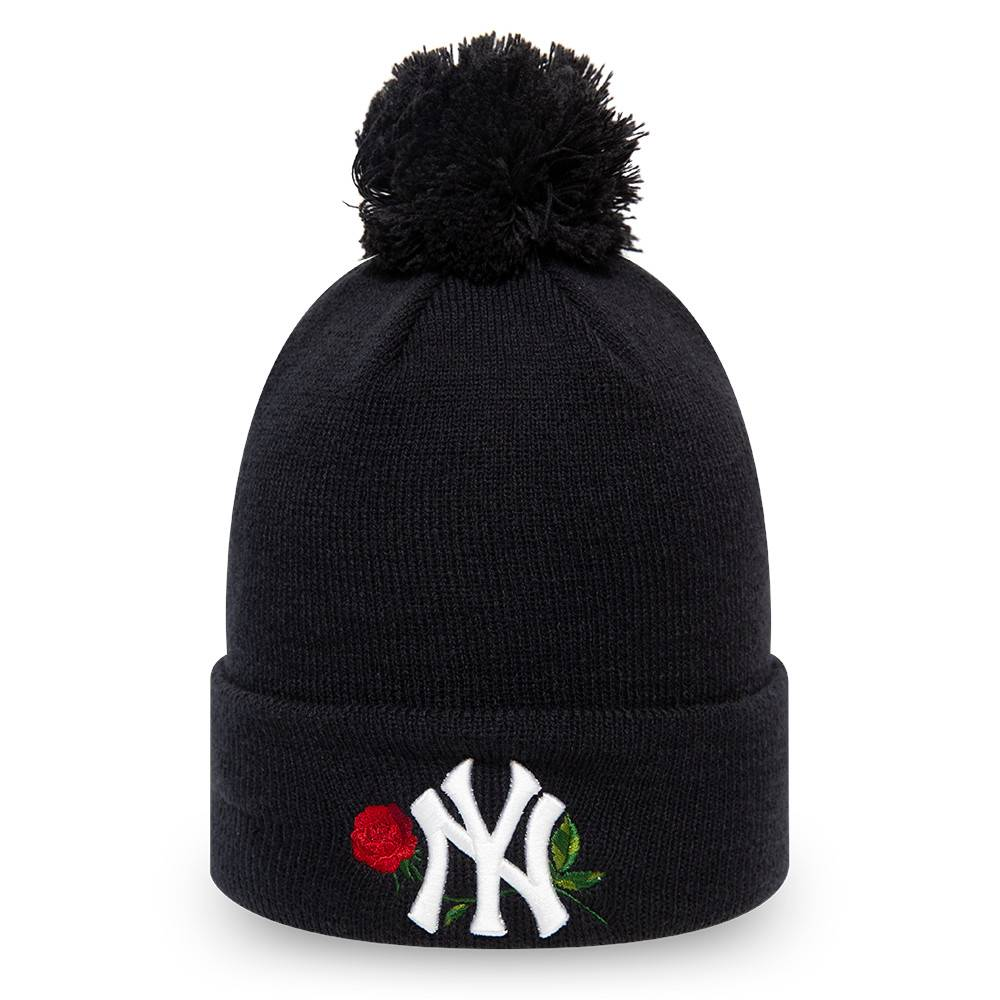 NEW ERA NEW YORK YANKEES WOMENS TWINE BOBBLE KNIT NAVY