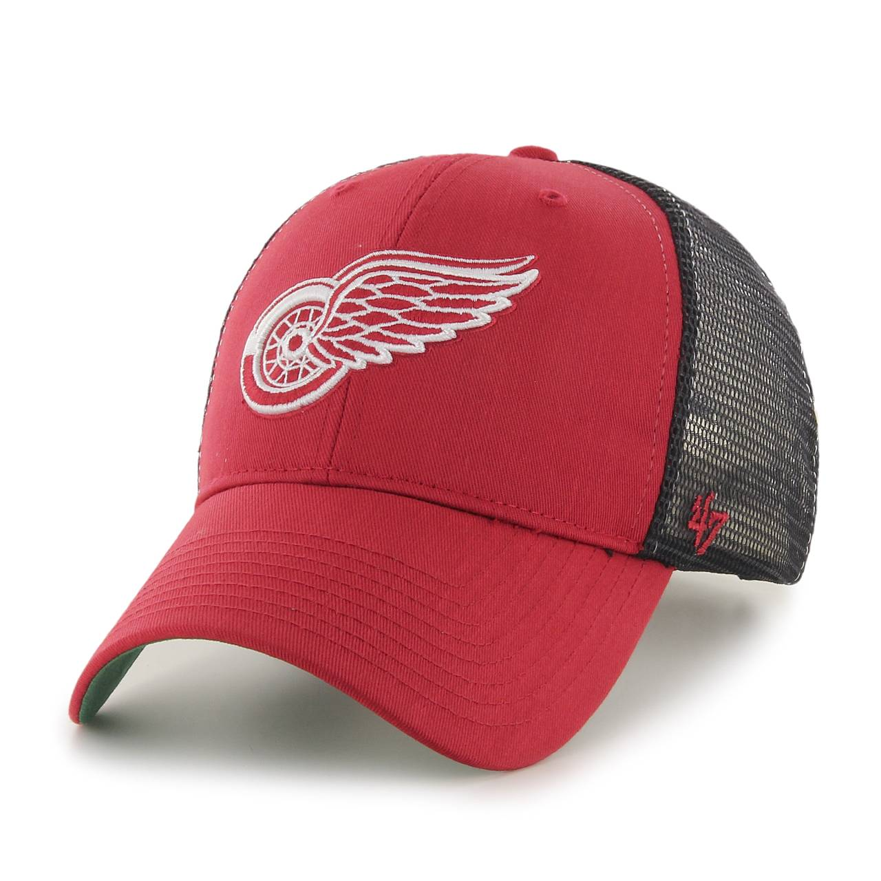 H-BRANS05CTP-RDC NHL DETROIT RED WINGS '47 BRANSON MVP RED CAP