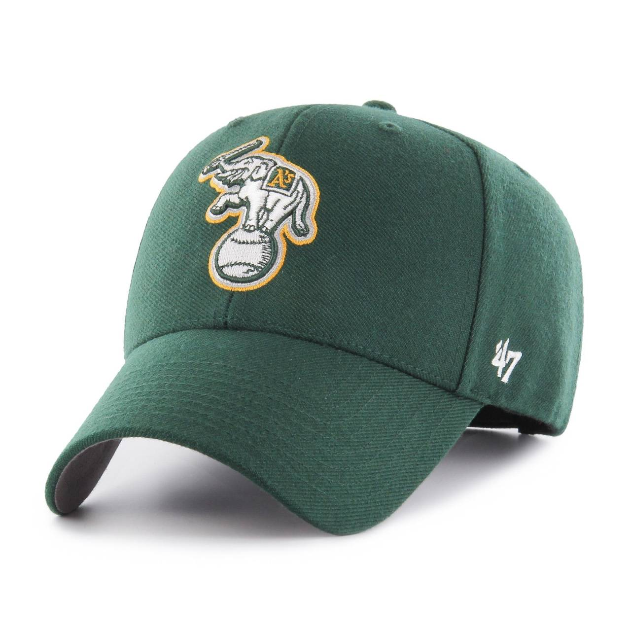 47-mvp-mlb-cooperstown-oakland-athletics-elephant-green-curved-cap
