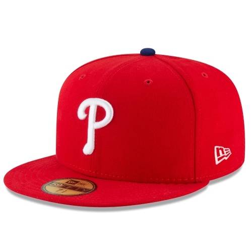 70360945 59FIFTY MLB AUTHENTIC PHILADELPHIA PHILLIES TEAM FITTED CAP