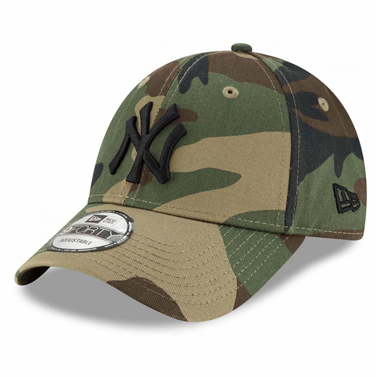 11357008 9FORTY MLB NEW YORK YANKEES WOODLAND CAMO CAP