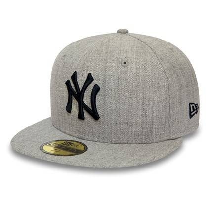 59FIFTY MLB NEW YORK YANKEES HEATHER GRAY FITTED CAP