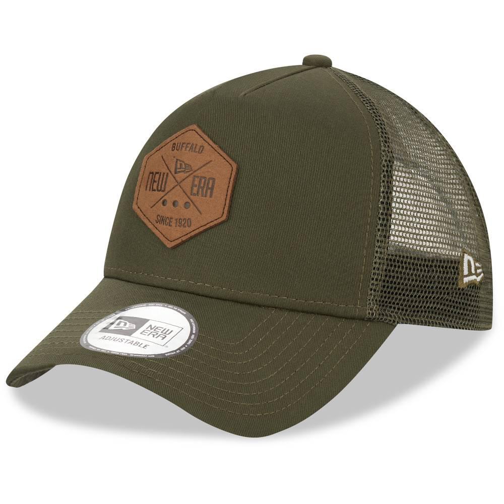 12523900 TRUCKER A-FRAME NEW ERA PATCH OLIVE CAP