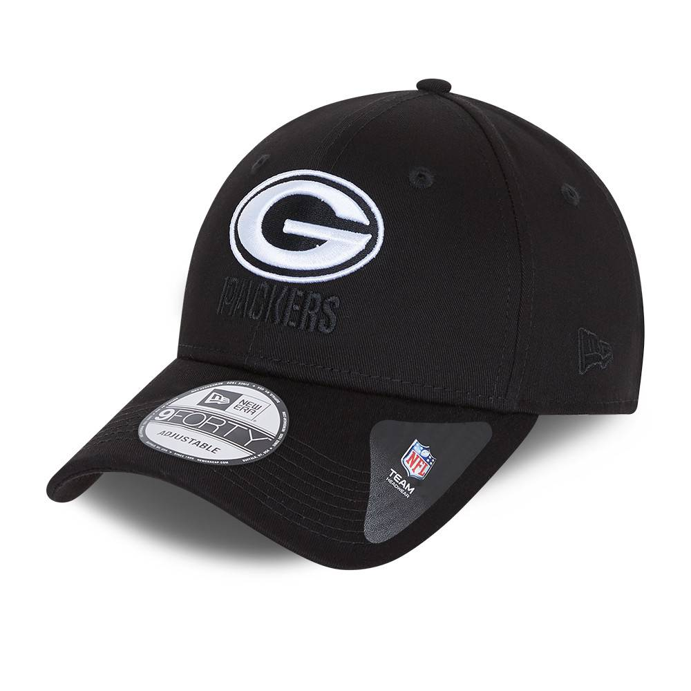 9FORTY NFL GREEN BAY PACKERS BLACK BASE SNAPBACK