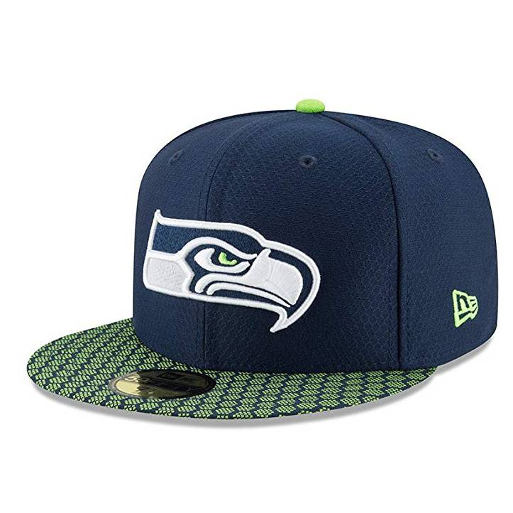 11462064 59FIFTY NFL SEATTLE SEAHAWKS SIDELINE FITTED CAP