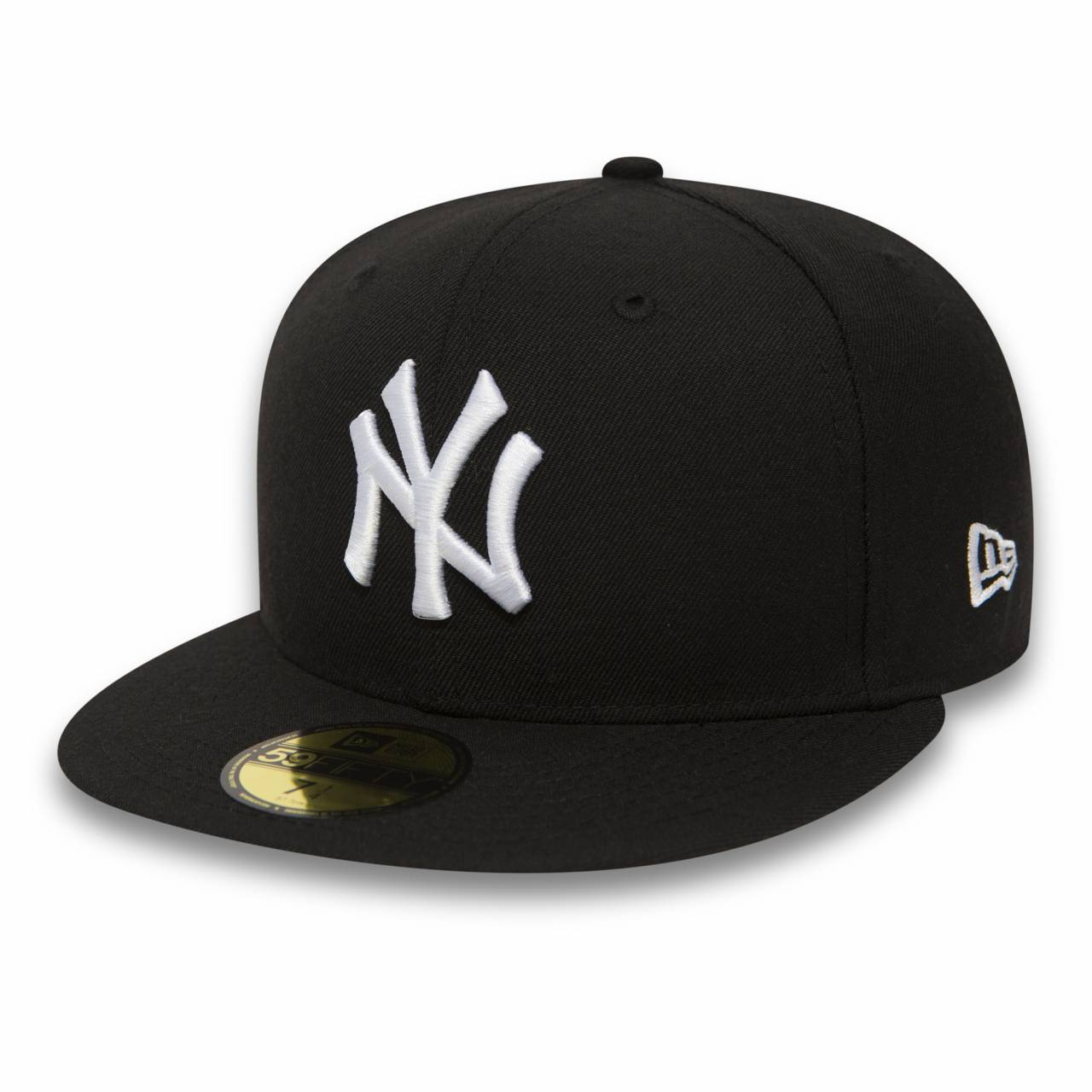 10003436 59FIFTY NEW YORK YANKEES BLACK/WHITE FITTED CAP