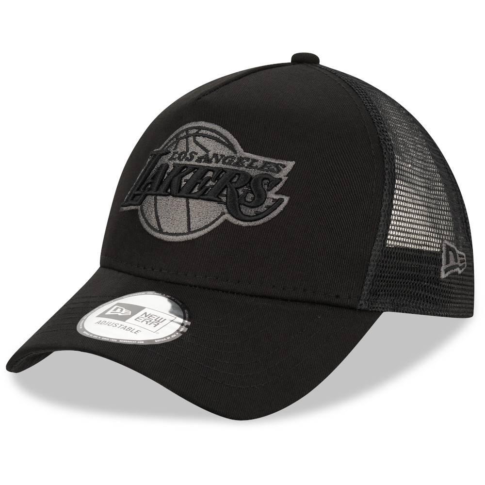 12523911 New Era NBA LOS ANGELES LAKERS BLACK TRUCKER CAP