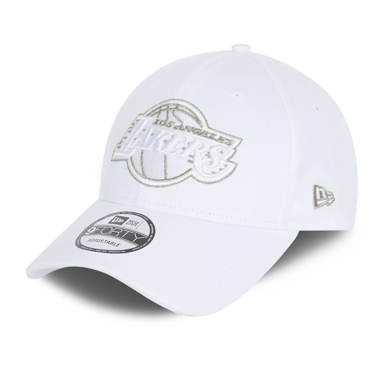 9FORTY NBA LOS ANGELES LAKERS METALLIC LOGO WHITE CAP