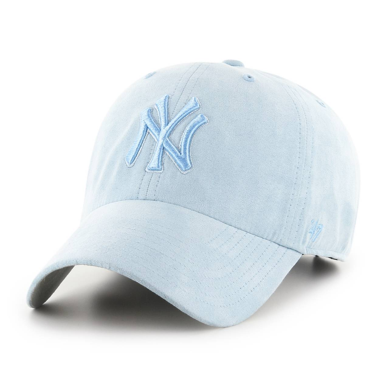 B-ULTBS17USS-CO CLEAN UP MLB NEW YORK YANKEES SUEDE BLUE CAP